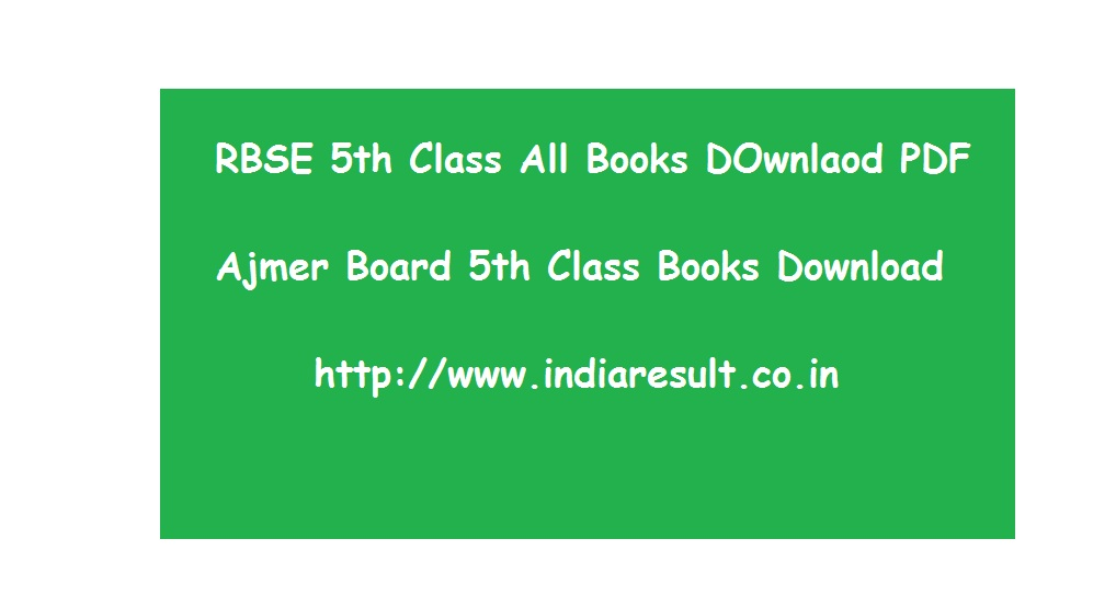 RBSE 5th Class Books Download PDF